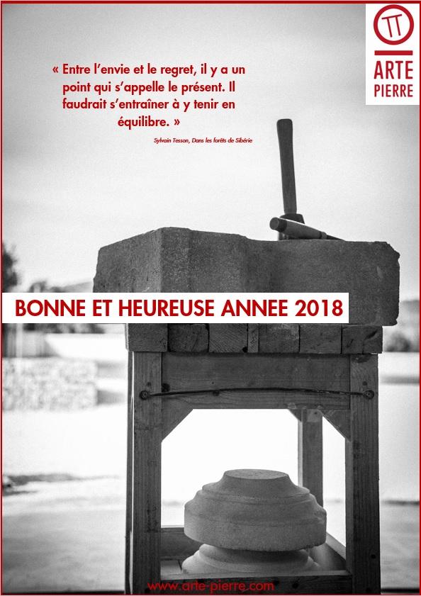 Arte Pierre Vous Souhaite La Bonne Annee 2018 Arte Pierre